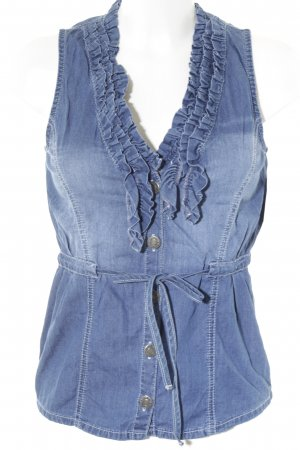 Jette Denim Vest dark blue-blue jeans look