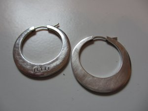 Jette Orecchino a cerchio grigio chiaro-argento Argento