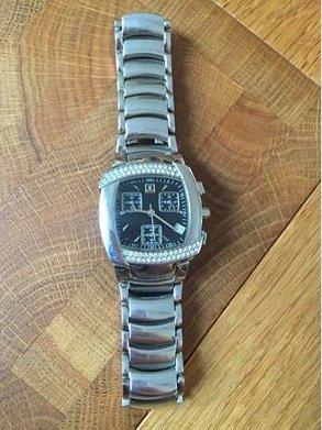 Jette Joop Damen Armbanduhr Silber Schwarz