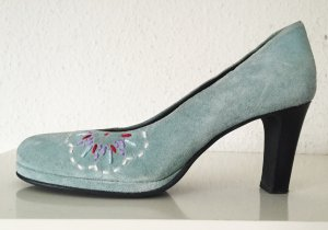 Jette Joop High Heels Gr.37 Pumps Blau blaue Velours Veloursleder Wildleder