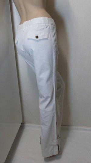 Jette Joop Pantalon pattes d'éléphant blanc cassé coton