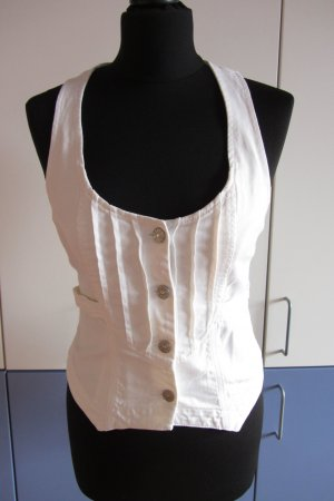 Jette Gilet en jean blanc coton