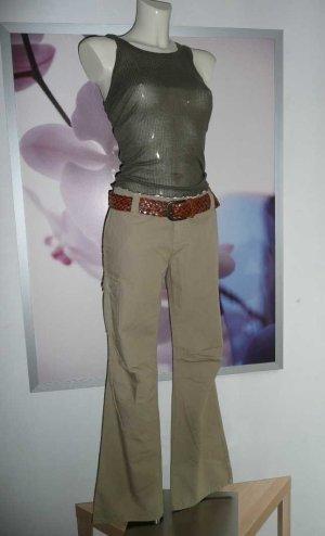 Jette Joop lässige  Schlaghose Flared Leg Cargo Pants khaki 38-40