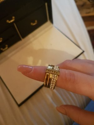 Jette Joop Gold Ring sand brown real silver
