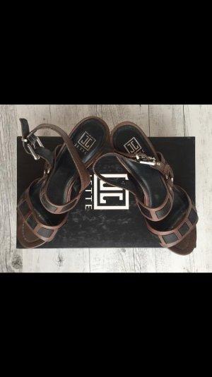 Jette Joop Strapped Sandals brown-black leather