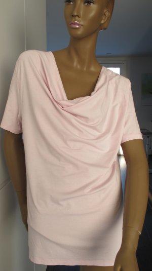 Jette Joop Shirt mit Wasserfallkragen, Gr. 46 Rosa