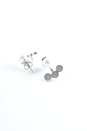 Jette Joop Orecchino d'argento argento-bianco elegante