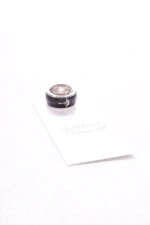 Jette Joop Silberring schwarz-silberfarben Kunstmuster
