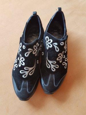 Jette Joop Sneaker con strappi nero-bianco