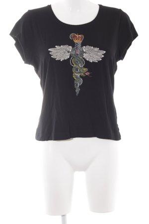 Jette Joop T-Shirt schwarz Motivdruck extravaganter Stil
