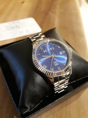Jette Joop Reloj con pulsera metálica color plata-azul