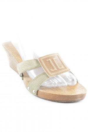 Jette Joop Wedge Sandals olive green-brown street-fashion look