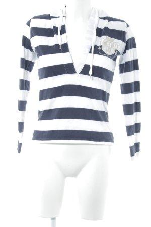 Jette Kapuzensweatshirt weiß-dunkelblau Casual-Look
