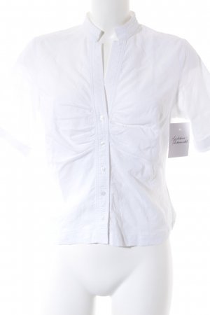 Jette Kurzarm-Bluse weiß Elegant