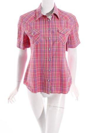 Jette Shirt met korte mouwen geruite print casual uitstraling
