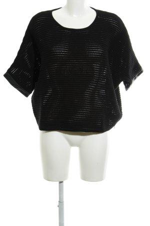 Jette Short Sleeve Sweater black casual look