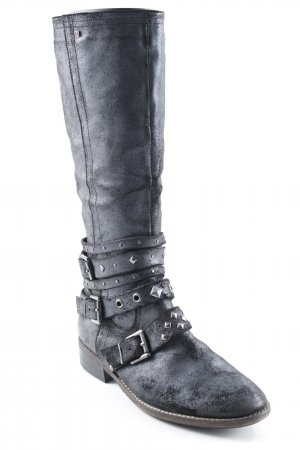 Jette Short Boots anthracite biker look