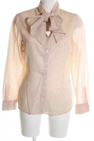 Jette Langarm-Bluse nude Punktemuster Casual-Look