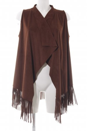 Jette Leather Vest brown casual look