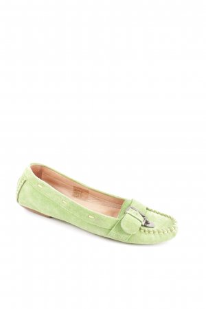 Jette Moccasins grass green casual look