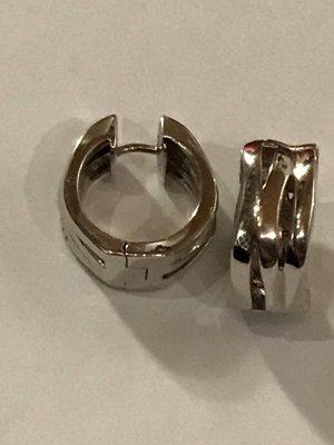 Jette Ear Hoops silver-colored