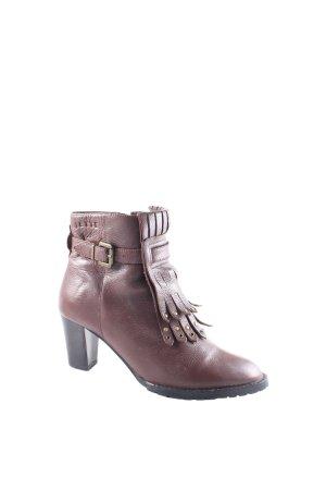Jette Reißverschluss-Stiefeletten braun Street-Fashion-Look