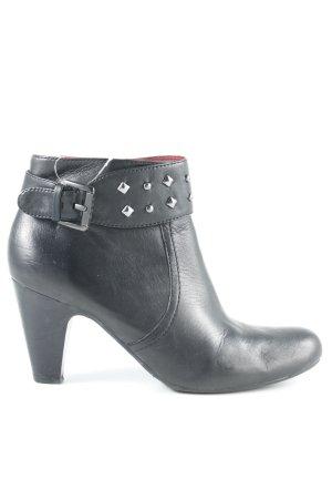 Jette Reißverschluss-Stiefeletten schwarz-rot Casual-Look