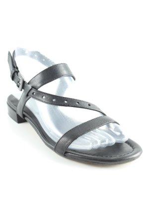 Jette Sandalen met bandjes zwart klassieke stijl