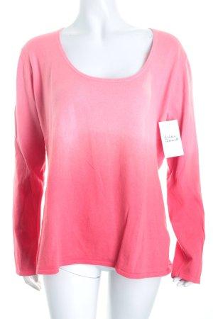 Jette Rundhalspullover rosa Farbverlauf schlichter Stil