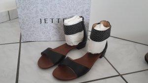 Jette Sandalias cómodas negro Cuero