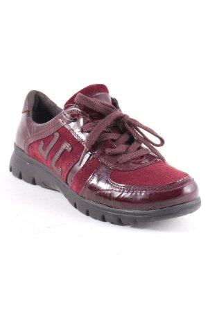 Jette Zapatos brogue burdeos estilo deportivo