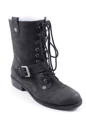 Jette Lace-up Boots black biker look