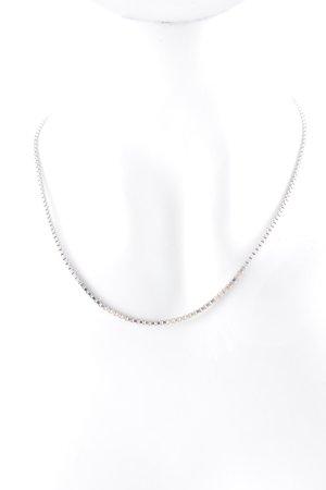 Jette Cadena de plata color plata estilo clásico