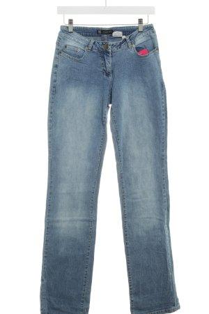Jette Slim Jeans blau Bleached-Optik