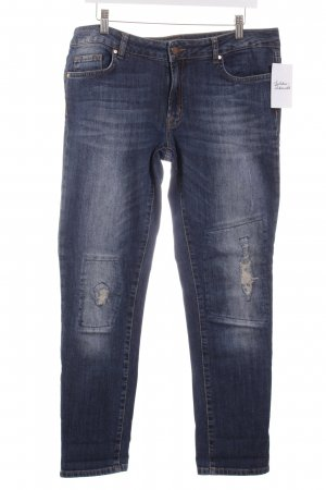 Jette Slim Jeans dunkelblau Used-Optik