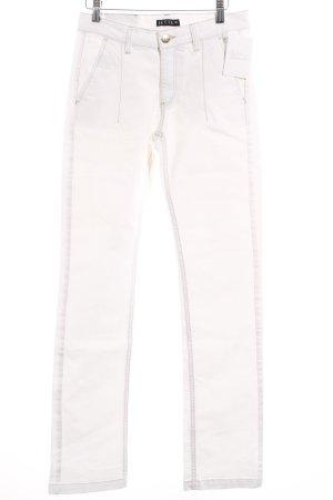 Jette Straight-Leg Jeans weiß klassischer Stil