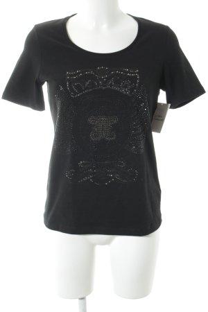 Jette Camiseta negro estilo minimalista