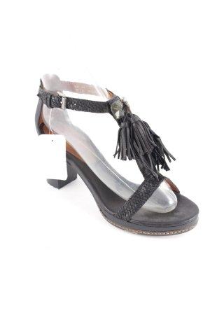 Jette T-Steg-Sandaletten schwarz klassischer Stil