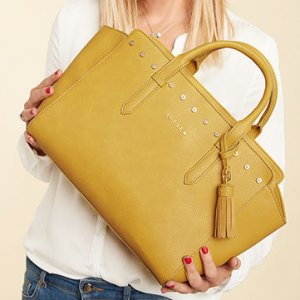 Jette Carry Bag dark yellow imitation leather