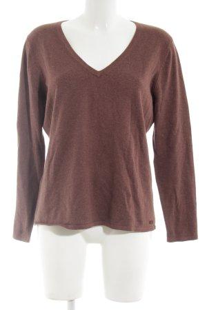 Jette V-Ausschnitt-Pullover braun Casual-Look