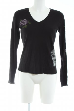 Jette V-Ausschnitt-Pullover schwarz Casual-Look