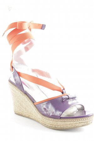 Jette Wedge Sandals lilac beach look