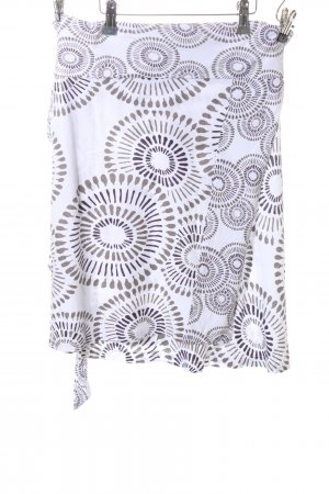 Jette Wraparound Skirt white graphic pattern casual look