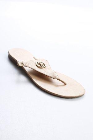 Jette Zehentrenner-Sandalen beige-goldfarben klassischer Stil