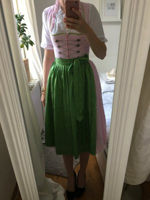 Berwin & Wolff Dirndl light pink-lime-green