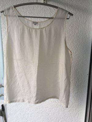 Haut en soie blanc cassé soie