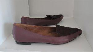 JIGSAW Moccasins purple leather