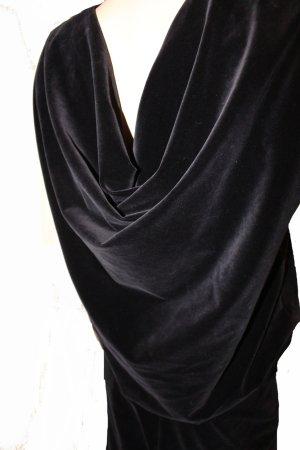JIL SANDER Abendkleid Samt schwarz stretch edel Gr. 40