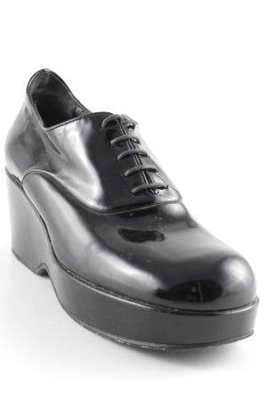 Jil Sander Sneaker con tacco nero stile casual
