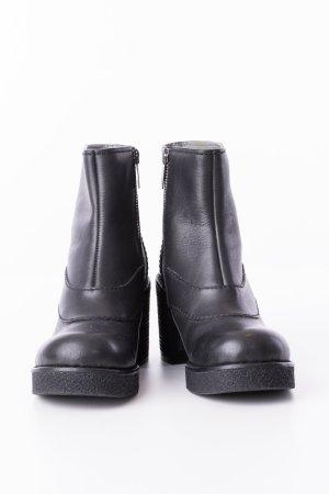 JIL SANDER - Ankle Boots mit Plateau Schwarz